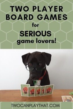 These 10 board games are great for two players, and all rank very highly on Board Game Geek. Great for couples who are big fans of board games and love more complicated strategy!