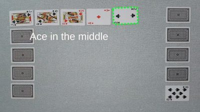 Example of a valid move in our original two player card game Chain - ace in the middle